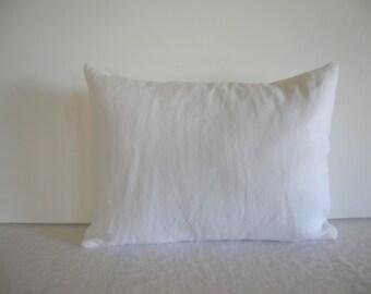 White Linen 12x16 Pillow Cover