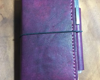 Travelers Notebook  Wallet - Pocket size with pen holder
