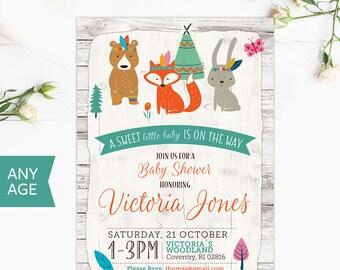 Woodland Baby Shower, Woodland Invitation, Rustic woodland Invitation, Deer Baby Shower, Forest Baby Shower, Woodland invite, oh deer