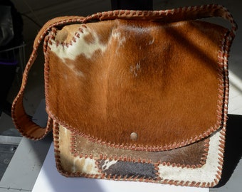 Mexican cowhide purse messenger bag computer bag