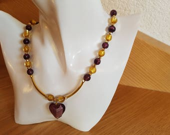 Festive necklace with Murano glass pendant