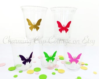 Butterfly Party Cups/Butterfly Party Theme/Butterfly Birthday/Butterfly Baby Shower/Butterfly Theme Party/Party Cups/Butterfly Party Favor