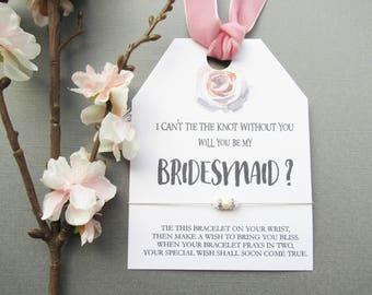 Wish bracelet, pearl bracelet, bridesmaid proposal, will you be my bridesmaid gift, bridesmaid bracelet, wedding bracelet,bracelets