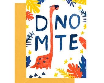 Dinosaur Dinomite Occasion Card