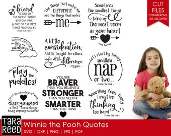 Winnie the Pooh Quotes svg / Winnie the Pooh Quotes / Winnie the Pooh svg / svg files / svg bundle / svg for Cricut / svg for Silhouette