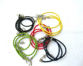 Faux Braided Leather Bracelets  (B256b)