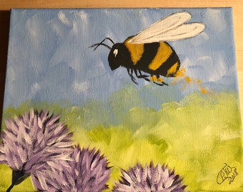 The Gathering, Bumblebee Painting, Pollen Collective