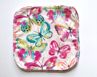 1 Ply Butterfly Cloth Wipes - Set of 10