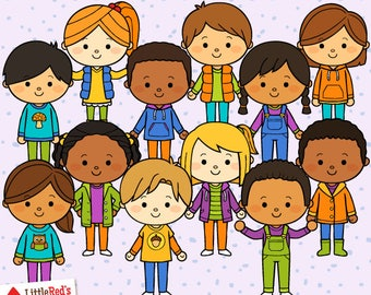 Fall Kids Clip Art - personal use/limited commercial use