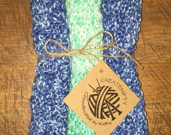100% cotton wash cloths, kitchen cloth or flannel. Eco friendly, machine washable.