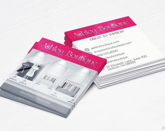 Shopping bag business cards boutiquestore design and upscale boutique business cards ecommerce design and printing 16pt uv 250 reheart Gallery