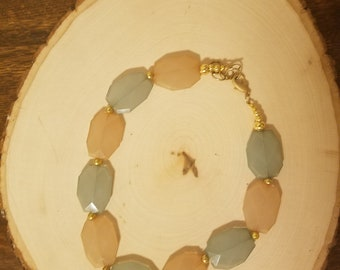 Peach and Sea Foam Necklace