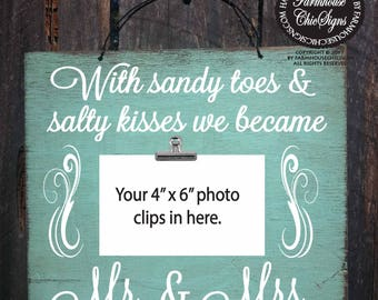 sandy toes and salty kisses, sandy toes picture frame, beach picture frame, salty kisses photo frame, beach wedding, 131