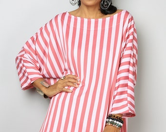 Summer Top / Trendy Blouse Tunic / Striped Top : Urban Chic Collection No.32