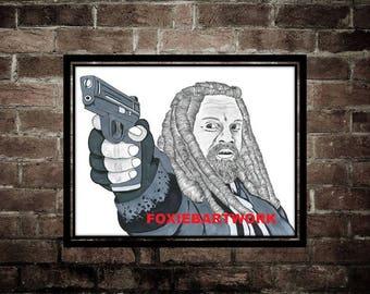 Walking Dead King Ezekiel Print