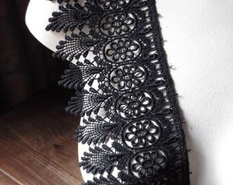 Black Lace Venise Style for Bridal, Garments, Costumes, Corsets  L 3019