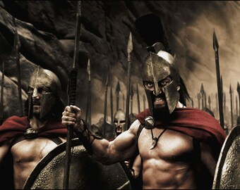 King Leonidas 300 Spartans Shields Movie HUGE Wall POSTER art canvas Movie Poster Print great gift 3