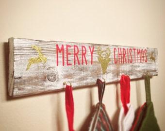 Stocking Hanger, Stocking Holder, Christmas Decor, Christmas wall decor, Stocking Decoration, Holiday Decoration