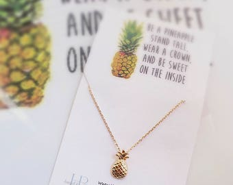 Pendants etsy pineapple necklace dainty pineapple necklace aloadofball Gallery