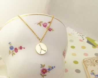 zodiac jewelry,Cancer Constellation Necklace,Cancer Necklace, Zodiac necklace,Constellation Jewelry,Gift idea,birthday pesent