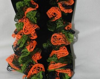 Handmade Sundance Camo Frill Crochet Ruffled Boa Scarf    JJH-9092058