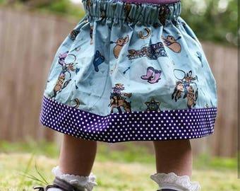 Girls Cowgirl Skirt, Girls Skirt, Girls Clothes, Kids Clothes, Polka Dots, Cowgirl, Summer Skirt, Party Skirt