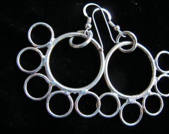 pair sterling hoop earrings