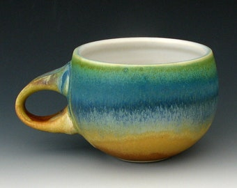 STONEWARE CUP #9 - Ceramic Cup - Coffee Cup - Tea Cup - Cappuccino Cup - Pottery Cup - Food Safe Cup - Latte Cup - Studio Pottery
