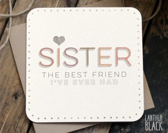 Sister birthday card / Sister birthday / Sister bday / Happy Birthday Sister / Favourite Sister / Sis Birthday / MT11