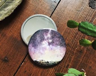 Purple Sky Pocket Mirror