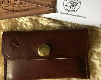 Handmade Leather business or credit card wallet