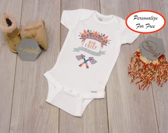 Chiefs baby etsy custom name and big chief baby onesie custom boho baby onesie custom baby gift negle Choice Image