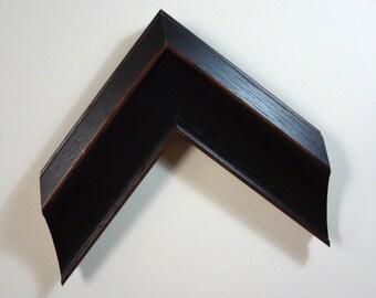 "Custom Frame, Dark Brown Wood, 2 5/8"" Wide, Made to Order"