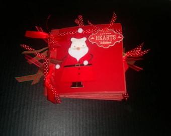 """Christmas  6.5"""" x 6.5"""" Paperbag Album, Mini Scrapbook, Paper Bag Book, Christmas Memory Album, Christmas Album"""