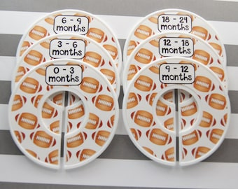 Custom Baby Closet Dividers Football Nursery Sports Nursery Baby Gift Clothes Organizers Baby Shower Gift Assembled