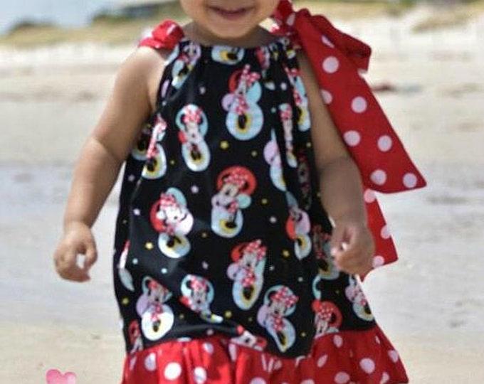 Minnie Mouse Red Polka Dot Vintage Pillowcase Dress