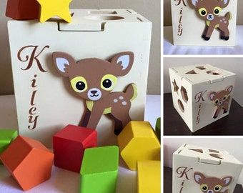 Christmas gift for kids sorting toy Montessori educational toy baby's first birthday gift personalized wooden toy customized toy BPA free