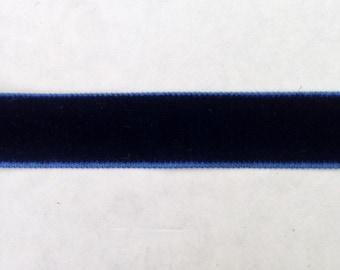 "3 Yards Navy Velvet Ribbon 5/8"" inch Wide SHIPS FROM USA"
