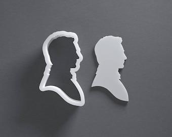 Mr Darcy cookie cutter, Jane Austen, Pride and Prejudice, Fitzwilliam Darcy, Elizabeth Bennet, silhouette