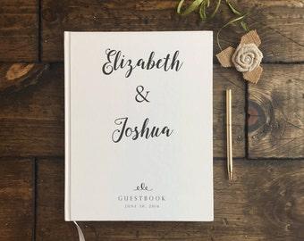 Rustic White Wedding Guest Book. Modern Wedding Guestbook. Custom Wedding Guestbook. Wedding Keepsake. Wedding Book. Wedding Journal.