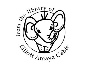Elephant From the library of custom rubber stamp elephant bookplate ex libris