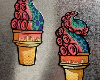 Tentacle Ice Cream Magnets