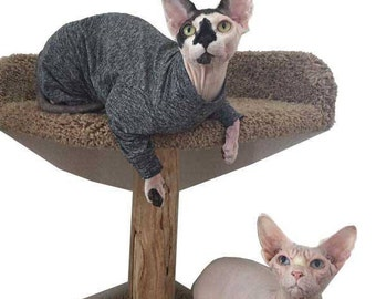 Cat Clothes, Sphynx Cat Sweater, Sunscreen Sphynx Clothes  The Feline Foursie ™   4Down 4Z  SPF Sun protection