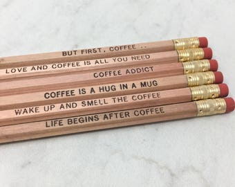 But First, Coffee Pencil Set