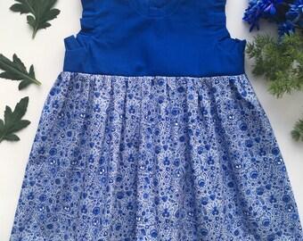 Little dress - Delft Blue 1
