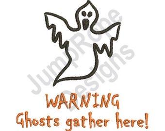 Ghost 1B - Machine Embroidery Design