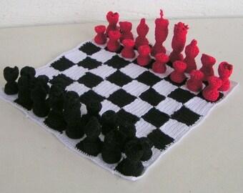 Chess game crochet pattern