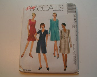 McCalls Pattern 2048 easy Miss Dress and Unlined Jacket