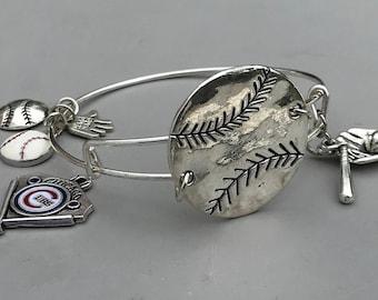 Chicago Cubs Baseball Bangle