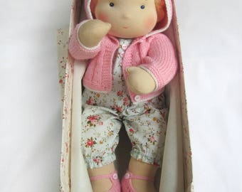 """MADE TO ORDER 14""""(36 cm) Waldorf Doll Baby Girl. Steiner doll-cloth doll-handmade doll-soft doll-waldorf toy-natural doll-organic doll"""